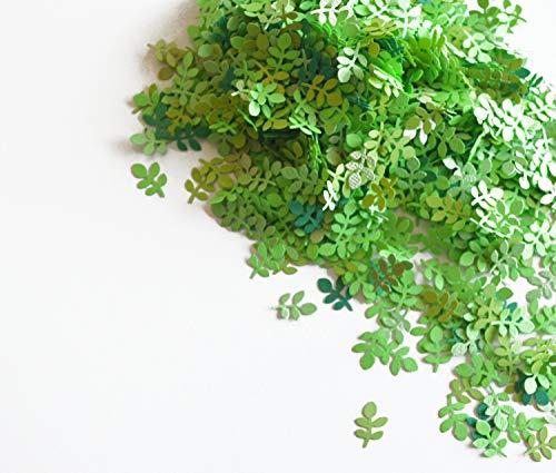 konfetti - blattförmiges Konfetti - 18 g - grüne verschiedene Töne (handgemacht Konfetti)