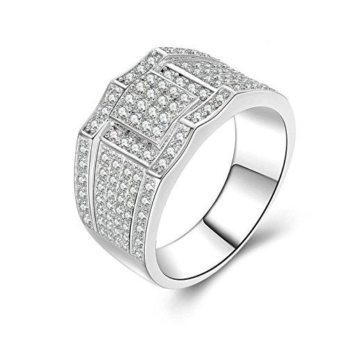 SonMo Ring Silber 925 Solitär Weiß Diamant Ringe für Damen Zirkonia Trauringe Hochzeit Ring Eheringe Ring Frauen Größe 54 (17.2)