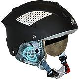 Cox Swain Ski-/Snowboardhelm Sonic Ltd. - mit Verstellrad, Colour: Black, Size: S/M
