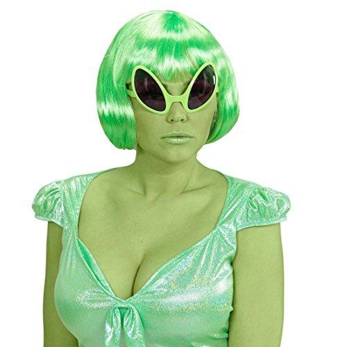 Alien Brille UFO Partybrille Außerirdischer Scherzbrille Sonnenbrille Space Spaßbrille Mottoparty Getönte (Sonnenbrille Alien)