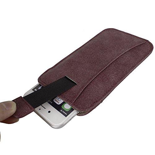 xhorizon® Modisch Luxus Scheuern Leder Tasche Haken Schleife Beutel Halfter Kreditkarteninhaber Case Hülle Präziser DesignPassen für iPhone 4 4S mit Ein Stift und Ein Reinigungstuch #1