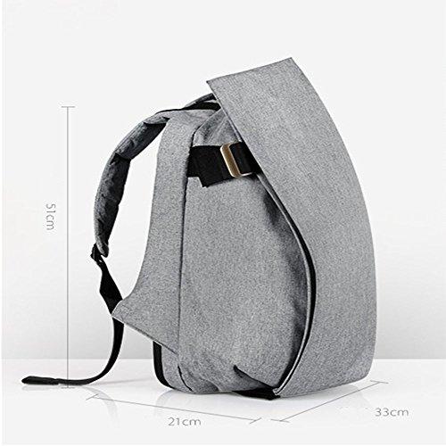 TBB-Rucksack Rucksack Reisen Outdoor Mode einfach Trend der großen Kapazität Computer Bag Large Silver
