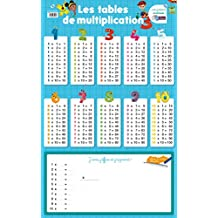 Poster-ardoise - les tables de multiplication