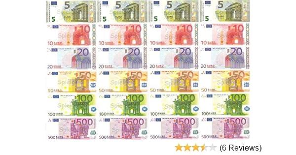 Philumo Spielgeld Euro Münzen Und Scheine Weihnachtsdekoration