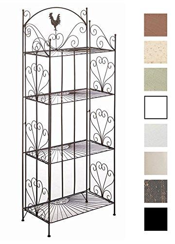 CLP Standregal MIA aus Eisen I Klappregal mit 4 Ablagefächern im Landhausstil I In verschiedenen Farben erhältlich Bronze