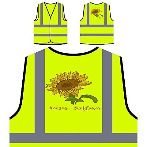Kansas Sunflower Veste de protection jaune personnalisée à haute visibilité k960v