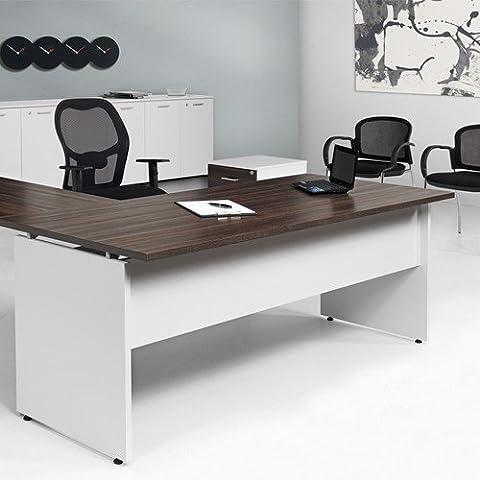 Scrivania Ufficio 160X80xH72 pannello struttura legno 619 Fumu Net