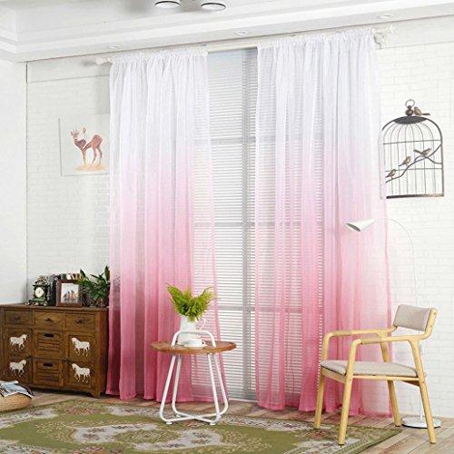 Modernas cortinas de tul de colores gradientes de display08, cortinas