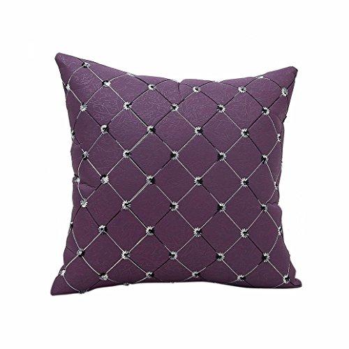 s Home Sofa Bett-Dekor Plaids Throw Kissen Fall Platz (Lila) (Sie Sind Mein Sonnenschein-dekor)