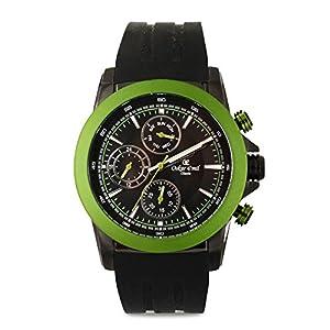 Oskar Emil Sports Reloj cronógrafo para Hombre de Cuarzo con Correa en Silicona Winston Green
