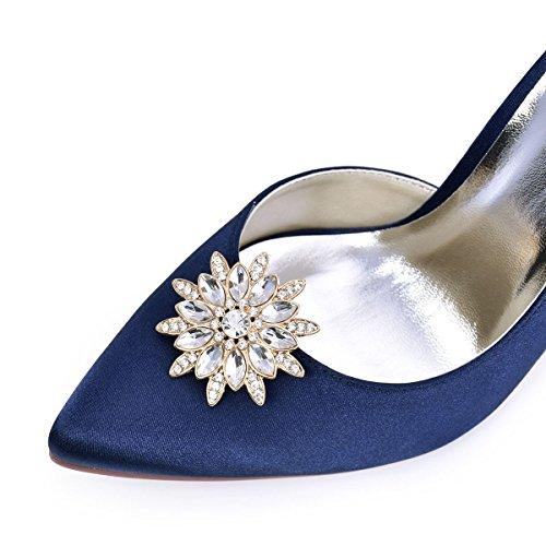 ElegantPark AS Damen Sonnenschein Design Kristall Kleider Handtasche Hute Schuh Clips 2 Stücke Gold