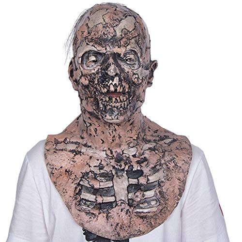 LXIANGP Latex Maske Faulen Zombie Horror Maske Halloween Spukhaus Requisiten Zimmer Entkommen Head Cover Bar Dance Party Party ()