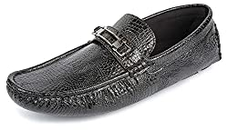 Spunk Mens Black Synthetic Loafers - 8 UK