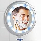 Ideaworks E7582 Entspiegelte LED Dusche Spiegel, ABS, Electronic Components, Grau, 26 x 23.50 x 3 cm