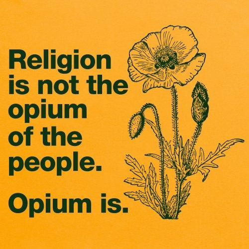 Opium of the People T-shirt, Uomo Giallo