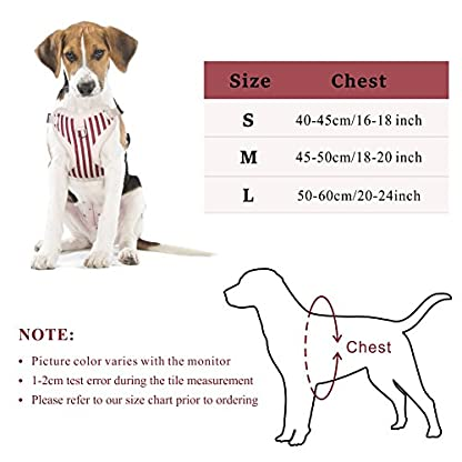 PETBABA Christmas Dog Harness, Soft Fleece Vest Warm Puppy in Winter, Front Clip Provide No Pull Choke Free Walk, Bow… 2