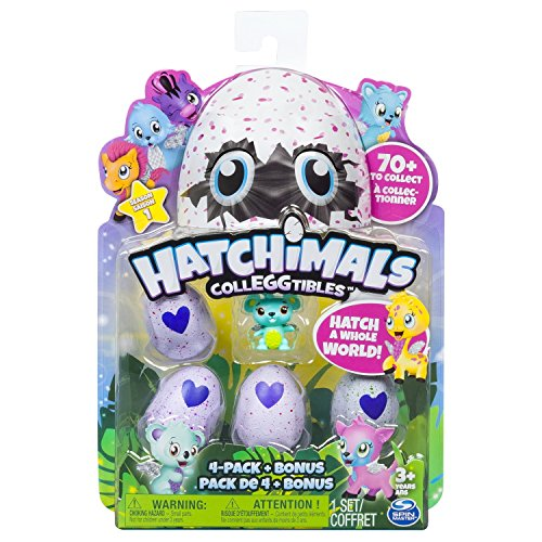 Hatchimals   Pack de 4 figuras coleccionable (Bizak 61921915)