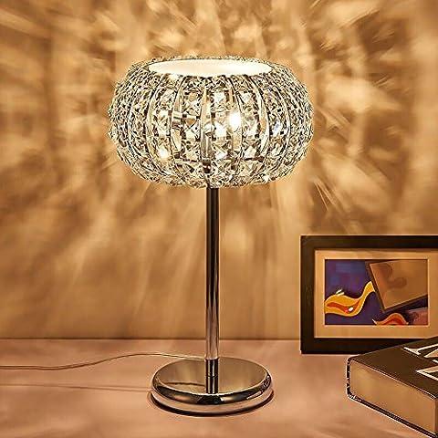 OOFWY G9 Kristall Tischlampe Moderne minimalistische Stil für Hotel Schlafzimmer Wohnzimmer Nachttisch Dekoration K9 quadratischen Kristall Schreibtischlampen Nachtlicht , 300mm