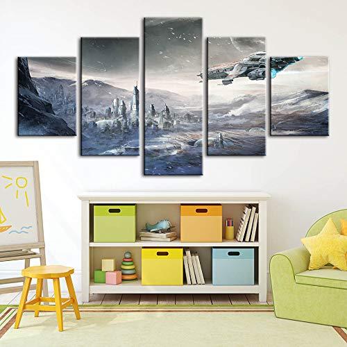 ion Leinwand Star Citizen Wandkunst Moderne Modulare Bilder Für Wohnzimmer Kunstwerk Poster d ()