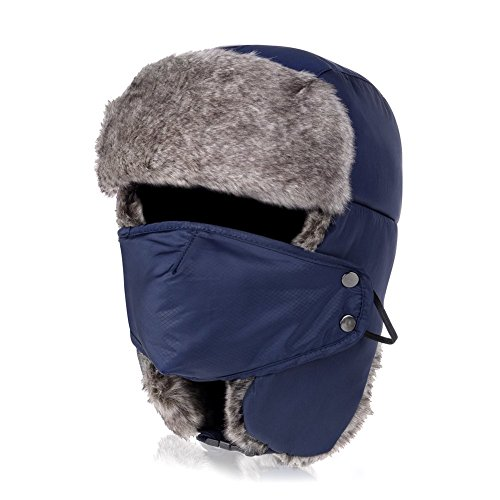 Vbiger Men's Women's Nylon Russian Style Winter Warm Ear Flap Hat