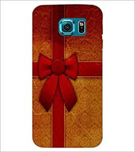 PrintDhaba Ribbon D-3454 Back Case Cover for SAMSUNG GALAXY S6 EDGE (Multi-Coloured)