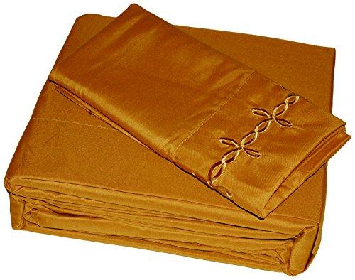 Home Soft Things Serenta 1000Elegant und bestickt knitterfreies Betten Bettwäsche und Kissenbezug Set, California King, - Twin-size-matratze-abdeckung