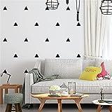 GaoHX Pur fond d'écran moderne simple géométrique noir et blanc triangle salon chambre TV mur fond d'écran étanche