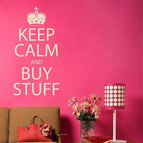 stickers muraux bebe papillon Keep Calm And Buy Stuff pour la boutique