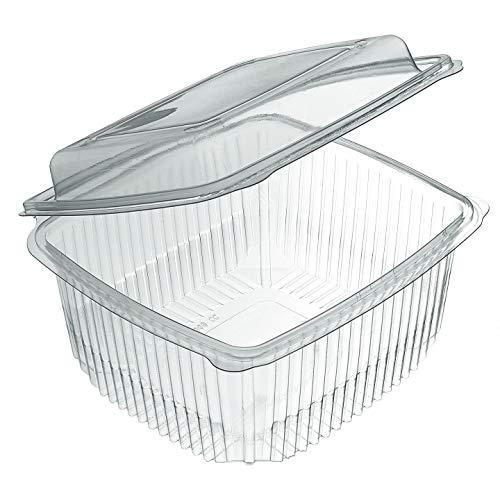 Extiff - Lotto di 50 scatole Alimentari fresche per Insalata con coperchi USA e Getta, 375 gr