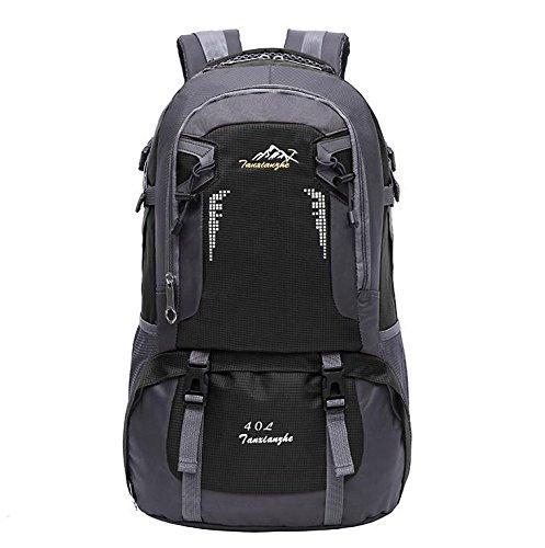 LINGE-All'aperto alpinismo borsa impermeabile per il tempo libero borse a tracolla per uomini e donne 40L , old blue Black