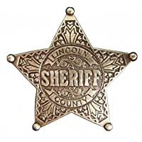 Denix Lincoln County Sheriff Star Messingf Cowboy Western Sheriff Badge