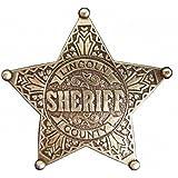 Denix Lincoln, stella dello sceriffo, contea, color ottone Cowboy Western.