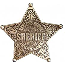 Estrella de Sheriff Lincoln County - placa cowboy