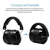 Ear Muffs Headband Mpow Sicherheit Ohrenschützer SNR 34 dB Gehörschutz, ANSI S3.19&CE Zertifiziert, Faltende-gepolsterter Kopfbügel Kapselgehörschützer mit Weichschaum für Erwachsene und Kinder - 5