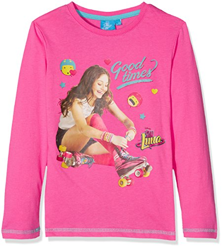 Soy Luna LS T-Shirt, Top de Manga Larga para Niñas, Rosa (Fuxia),...