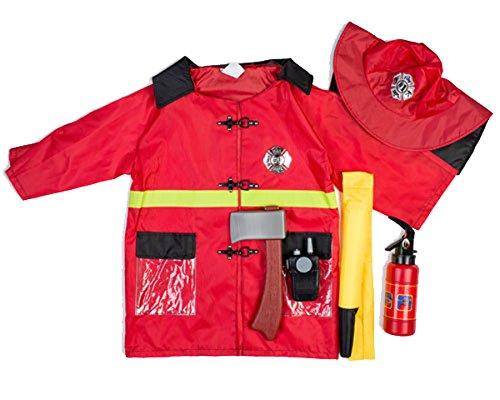 Dress Up America Feuerwehrmann Rol E spielen Ankleiden Set Feuerwehrmann Rollenspiel Ankleiden Set