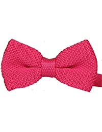 Deep Pink knitted bow tie