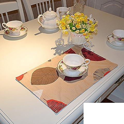 Perfect home Platzdeckchen/Baumwolle Stoff Tischsets/Chinesisch-art Kissen/Tabelle Protektoren-E 43x28cm(17x11inch)