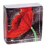 Caithness Glass Briefbeschwerer aus Glas, Motiv Mohnblumen