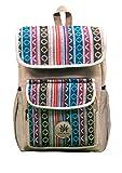 BeHemppy | NEW 100% PURE Hemp Backpack / Bag / Daypack with Nepal Laptop Sleeve, Unisex...