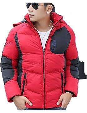 MHGAO Nueva pato blanco abajo del abrigo de invierno chaqueta de cuello de los hombres ocasionales , red , l
