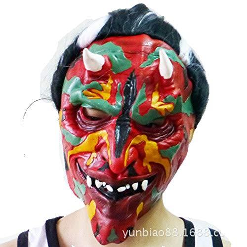 Sclmj halloween terror mask personalizzato face devil latex mask masquerade costume puntelli