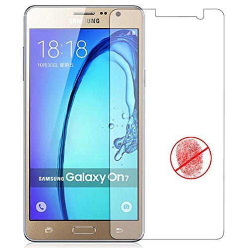 Samsung J7 Prime Window Flip Cover(GOLD)+FREE Tempered Flexible Curved Glass By Sun Tigers
