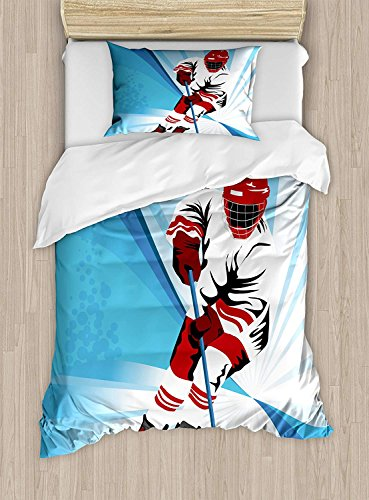 Fantasy Star 4 Stück Soft Home Tröster Bettwäsche Set One Seite Print Bettbezug Set, 1 Betttuch 1 Spannbetttuch und 2 Kissen Twin Size/Full Size/Queen Size/King Size Twin Size Color13 -
