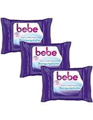 bebe Anti-Unreinheiten Reinigungstücher / Sanfte Tücher für die Gesichtsreinigung gegen Hautunreinheiten - ohne Parfüm / 3 x 25 Stück