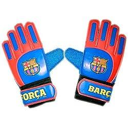 FC BARCELONA- Guantes de Portero, Infantil- Talla 5