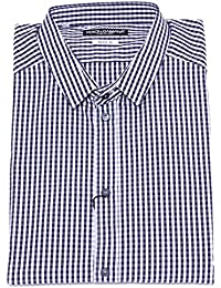 Dolce   Gabbana 5147Y Camicia Uomo Blue White Gold Cotton Shirt Man 987c3ddeadc