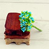 Free shipping 8 colors artificial flower bouquet of artificial stamen / scrapbook wedding gift decoration 10PCS / lot (Blue)