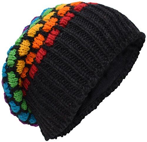 Little Kathmandu Woolen Knitted Fleece Lined Multicoloured Beanie Hats V