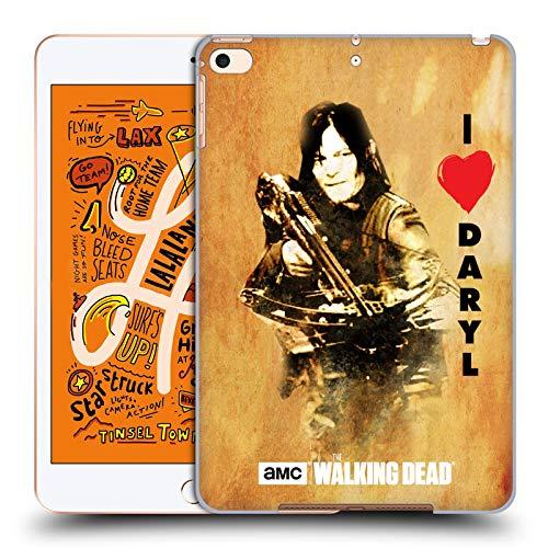 Head Case Designs Offizielle AMC The Walking Dead Daryl Armbrust Typografie Harte Rueckseiten Huelle kompatibel mit iPad Mini (2019)